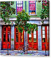 The Locked Bicycle - New Orleans Canvas Print