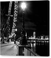 The London Eye At Night Canvas Print