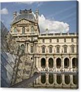 The Louvre Twice Reflected Canvas Print