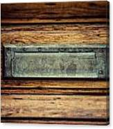 The Mail Slot Canvas Print