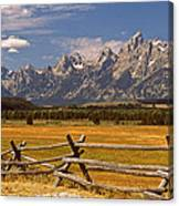 The Majestic Tetons Canvas Print