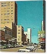 The Majestic Theatre In Abilene Tx 1958 Canvas Print