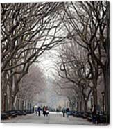 The Mall Central Park Canvas Print