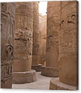 The Massive Columns In The Hypostyle Canvas Print