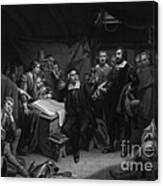 The Mayflower Compact, 1620 Canvas Print