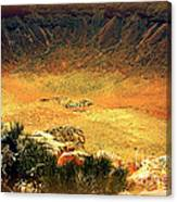 The Meteor Crater In Az 1 Canvas Print