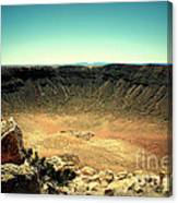 The Meteor Crater In Az Canvas Print