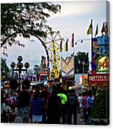 The Midway Lights Up Canvas Print