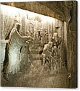The Miracle At Cana In Galilee - Wieliczka Salt Mine Canvas Print