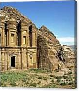 The Monastery Ad Dayr At Petra Canvas Print