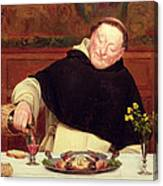 The Monk's Repast Canvas Print