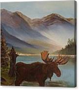 The Mountain Moose Canvas Print