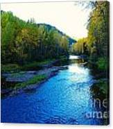 The Moyie River Near Yak B C Canvas Print