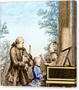 The Mozart Family On Tour 1763 Canvas Print