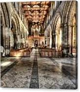 The Nave At St Davids Cathedral 3 Canvas Print