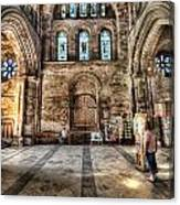 The Nave At St Davids Cathedral 5 Canvas Print