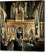 The Nave At St Davids Cathedral Canvas Print