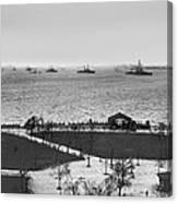 The Navy Fleet In New York Bay Canvas Print