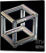 The Necker Cube Canvas Print