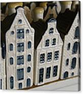 The Netherlands, Amsterdam, Model Houses Canvas Print