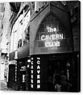 The New Cavern Club In Mathew Street In Liverpool City Centre Birthplace Of The Beatles Canvas Print
