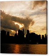 The New York City Skyline At Sunset Canvas Print