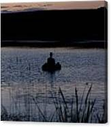 The Night Fisherman Floats Canvas Print