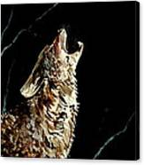 The Night Of The Wolf Canvas Print