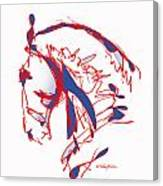 The Noble Nose - Red White Blue Canvas Print