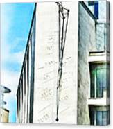 The Noon Sundial At The London Stock Exchange Canvas Print