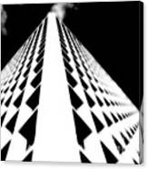 The Office Building Bw Canvas Print