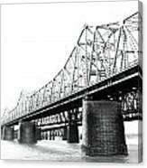 The Old Bridges At Memphis Canvas Print