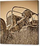 The Old Bulldozer Canvas Print