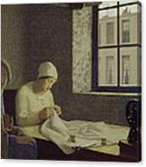The Old Nurse Canvas Print