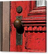 The Old Red Door Canvas Print