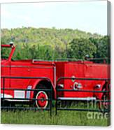 The Old Red Fire Engine Canvas Print