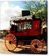 The Old Stage Coach Canvas Print
