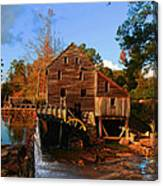 The Old Yates Mill Canvas Print