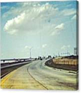 The Open Road #notraffic #random #hdr Canvas Print
