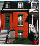 The Orange House In Montreal Canvas Print