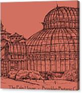 The Palm House In A Salmon Pink  Canvas Print