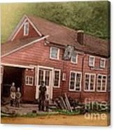 The Palmer Bates' Blacksmith Shop In Potter Hollow N Y Around 1910 Canvas Print