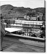 The Panama Canal, U.s. Troops Passing Canvas Print