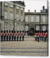 The Parading Of The Guards Canvas Print