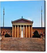 The Philadelphia Museum Of Art Front View Canvas Print