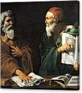 The Philosophers Canvas Print