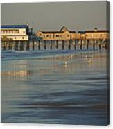 The Pier On Old Orchard Beach Canvas Print