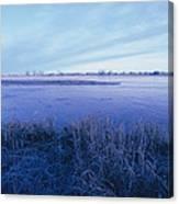 The Platte River In Central Nebraska Canvas Print