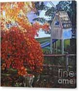 The Playhouse In Fall Canvas Print