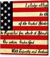 The Pledge Of Allegiance Canvas Print